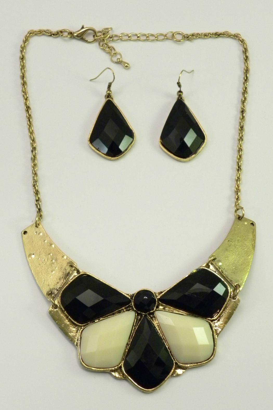 Mimi's Gift Gallery Black Ivory Necklace Set - Main Image