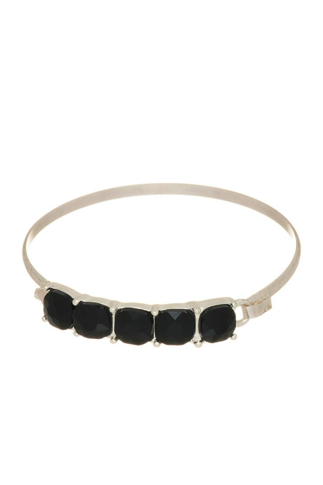 Mimi's Gift Gallery Black Stone Bangle - Main Image