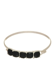 Mimi's Gift Gallery Black Stone Bangle - Front cropped