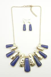 Mimi's Gift Gallery Blue Necklace Set - Front cropped