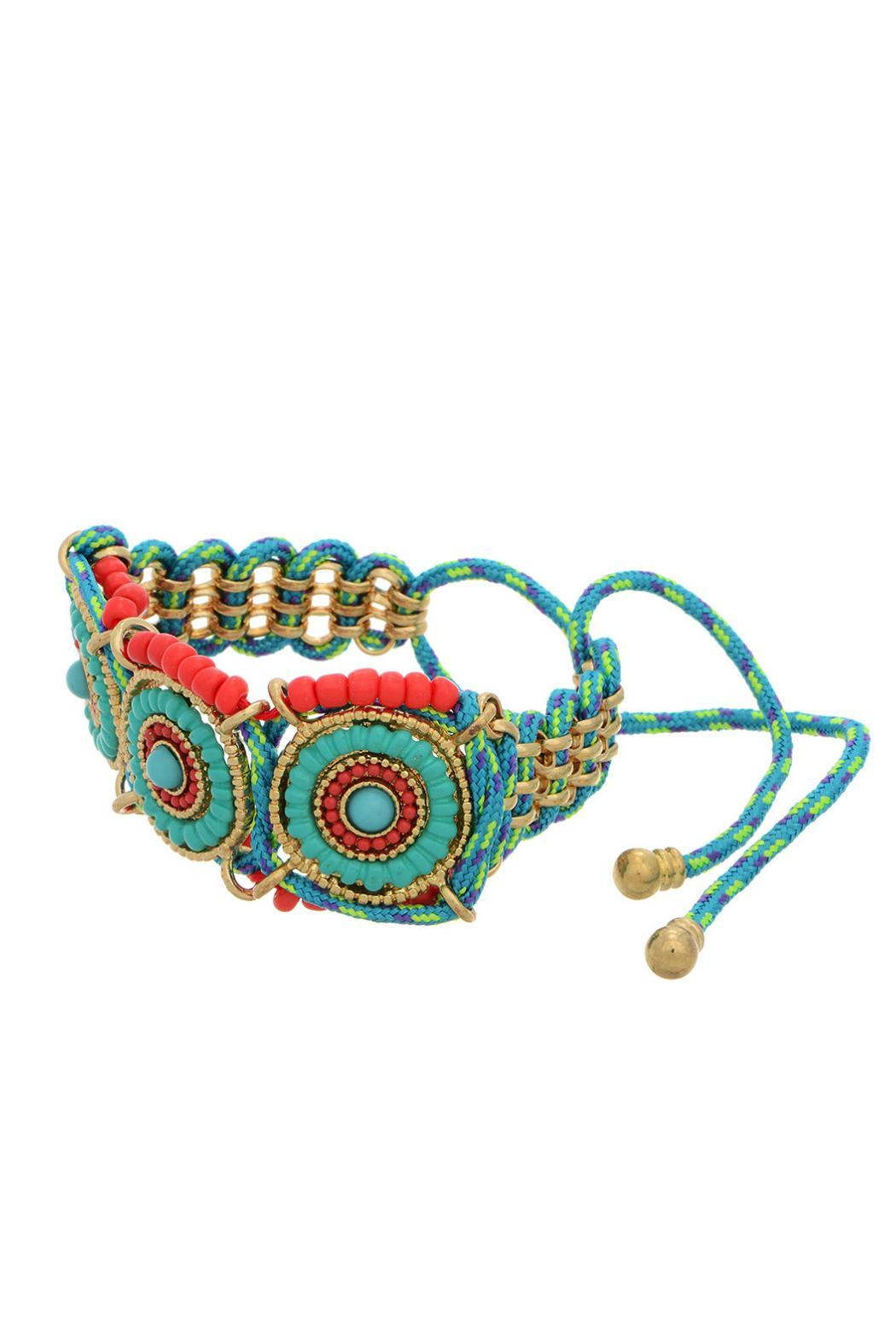 Mimi's Gift Gallery Boho Drawstring Bracelet - Front Cropped Image