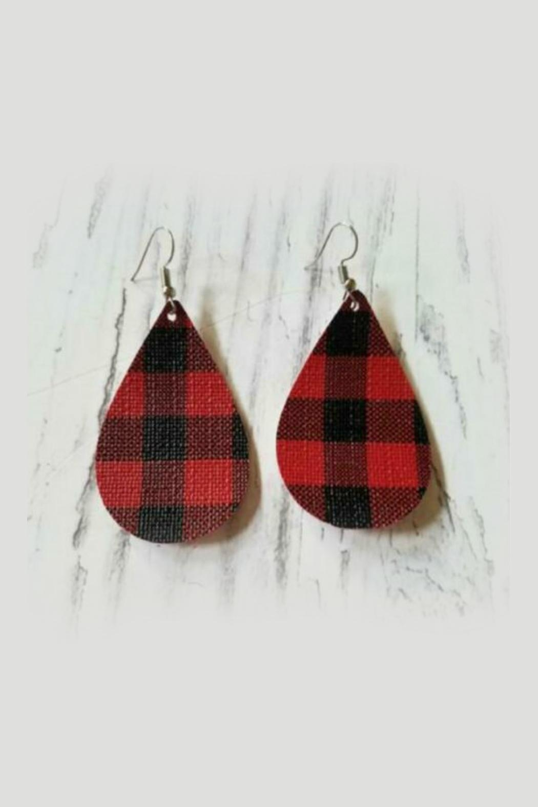 Mimi's Gift Gallery Buffalo Plaid Earrings - Main Image