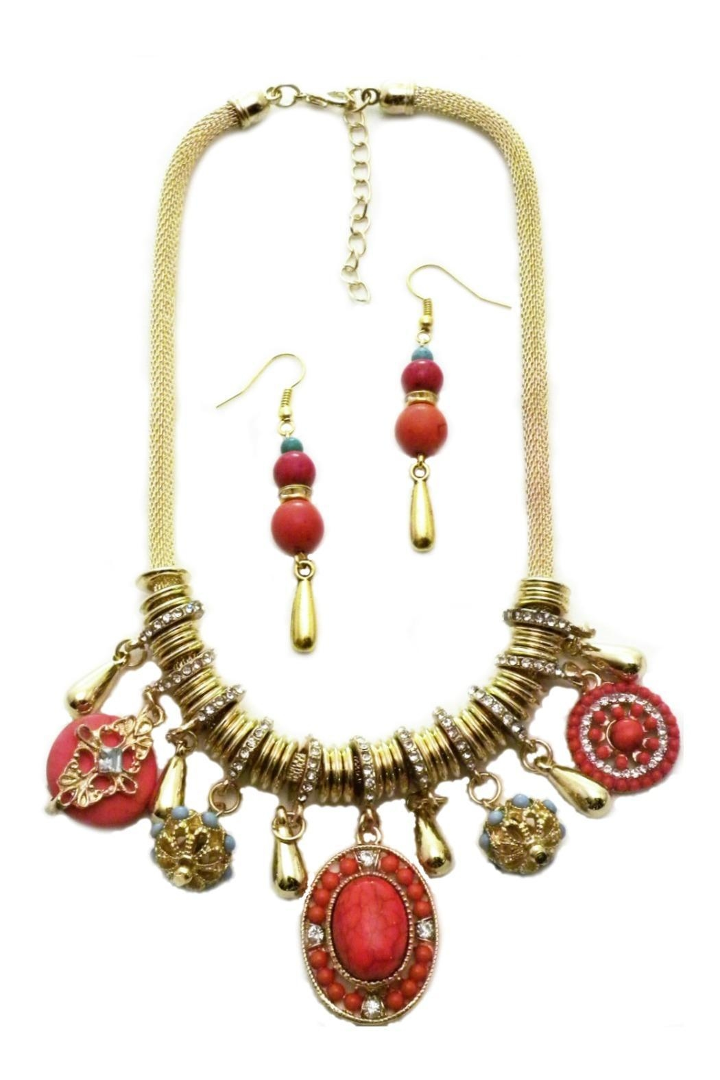 Mimi's Gift Gallery Coral Necklace Set - Main Image