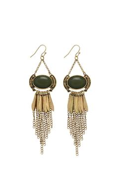 Shoptiques Product: Dark Green Earrings