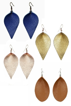 Mimi's Gift Gallery Genuine Leather Earrings - Product List Image