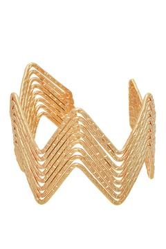 Mimi's Gift Gallery Gold Chevron Cuff - Alternate List Image