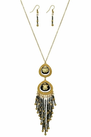 Mimi's Gift Gallery Gold/hematite Necklace Set - Product Mini Image