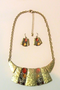Mimi's Gift Gallery Gold Mantle Necklace Set - Product List Image
