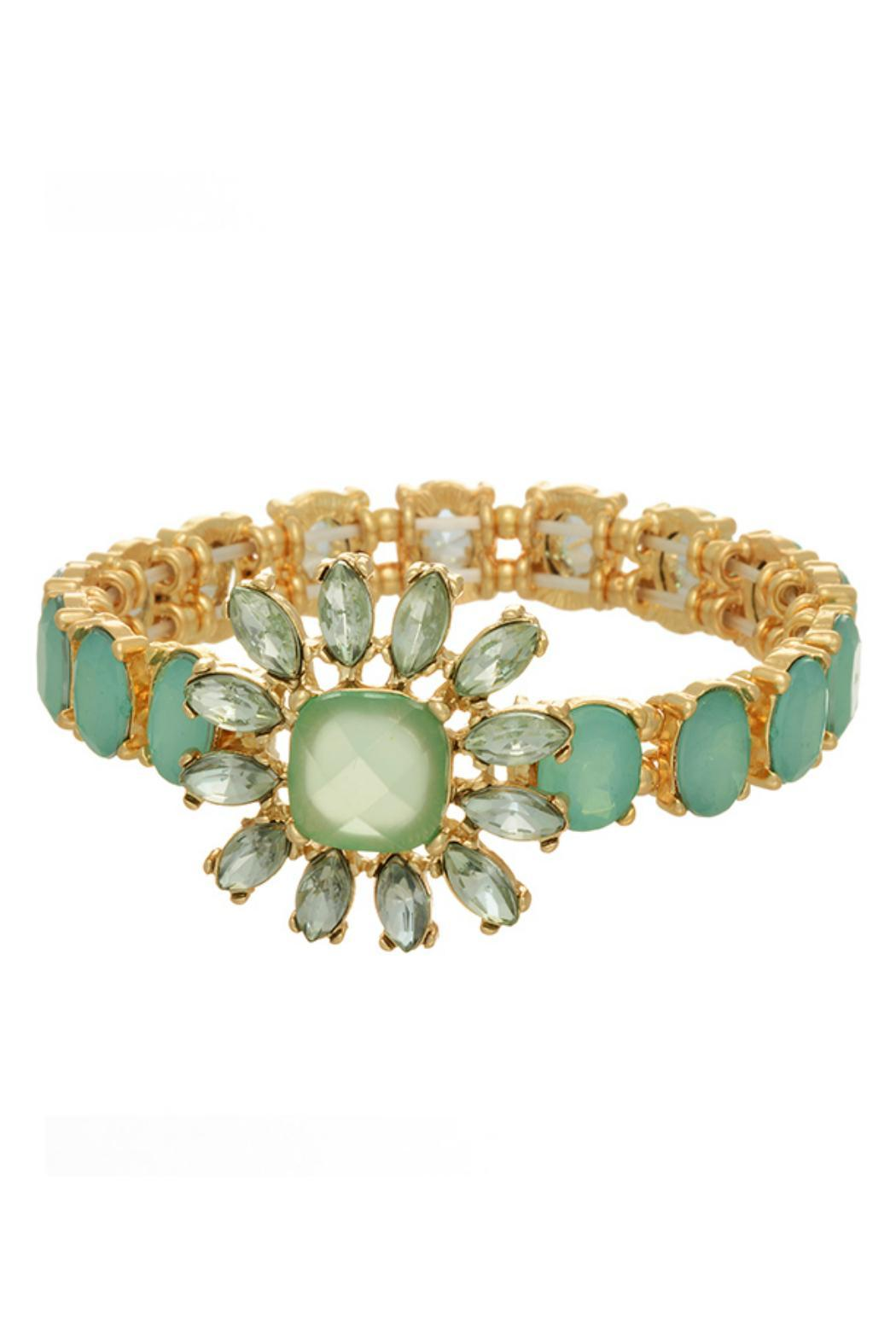 Mimi's Gift Gallery Gold Mint Crystal Bracelet - Main Image