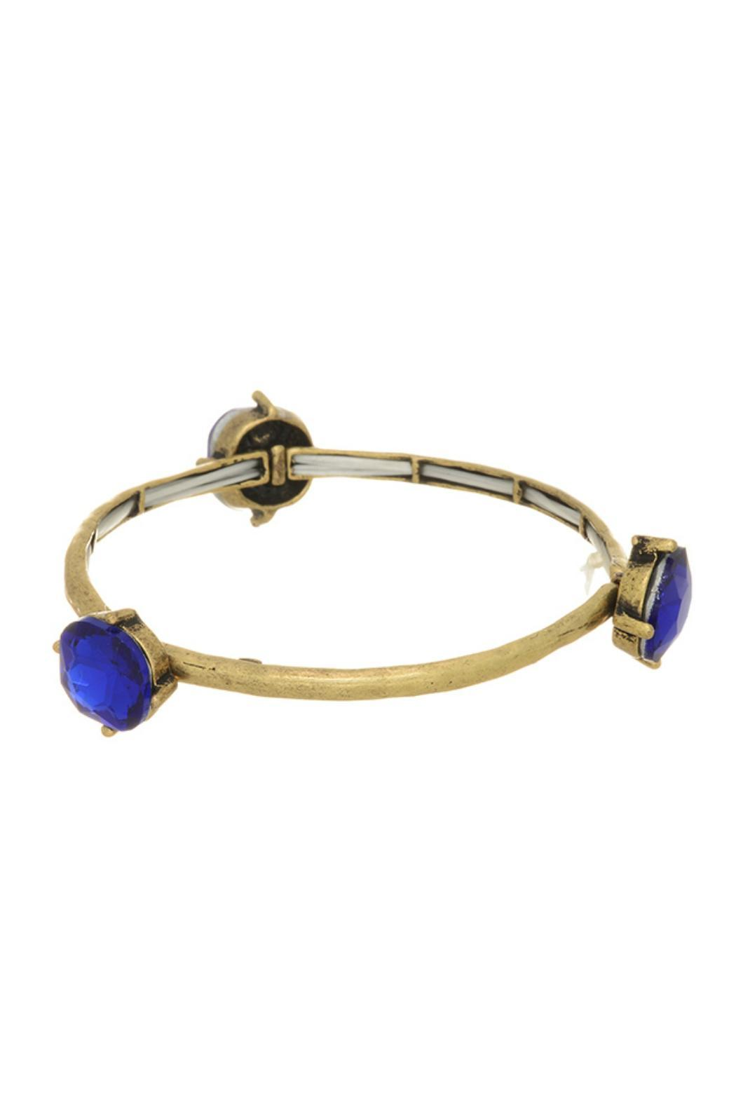 Mimi S Gift Gallery Gold Royal Blue Bracelet Front Cropped Image
