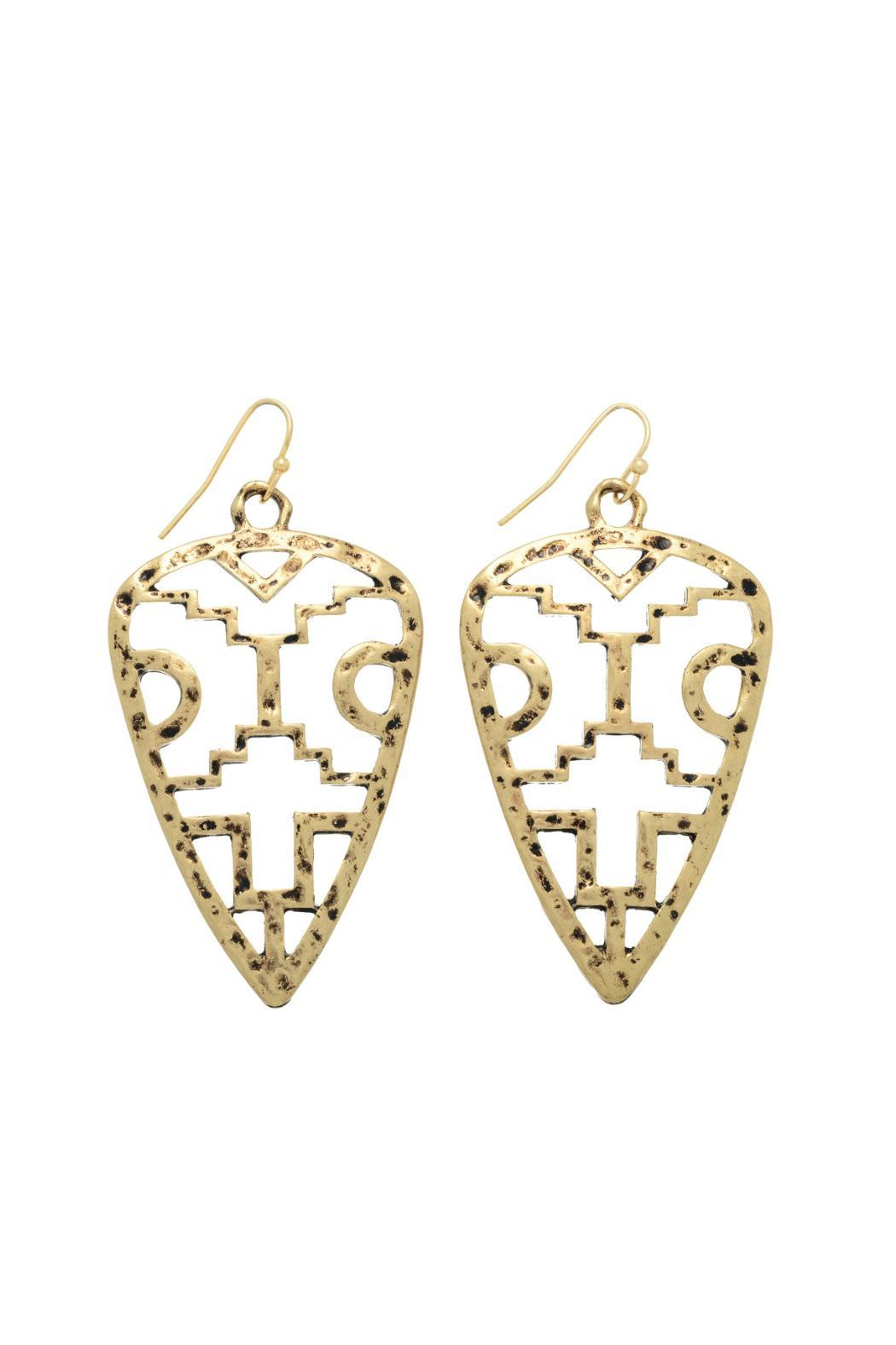 Mimi's Gift Gallery Gold Tribal Earrings - Main Image