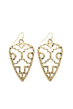 Mimi's Gift Gallery Gold Tribal Earrings - Alternate List Image