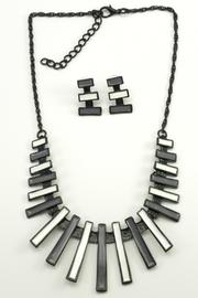 Mimi's Gift Gallery Gray White Necklace Set - Product Mini Image