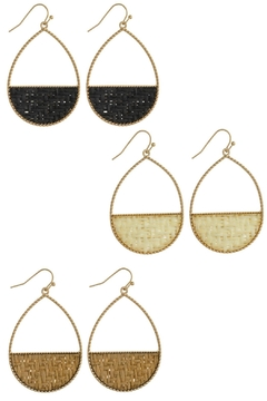 Mimi's Gift Gallery Half-Circle Rattan Earrings - Product List Image