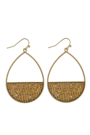 Mimi's Gift Gallery Half-Circle Rattan Earrings - Product Mini Image