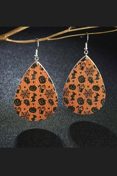 Mimi's Gift Gallery Halloween Vegan Leather Earrings - Alternate List Image