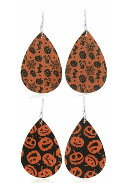 Mimi's Gift Gallery Halloween Vegan Leather Earrings - Product List Image