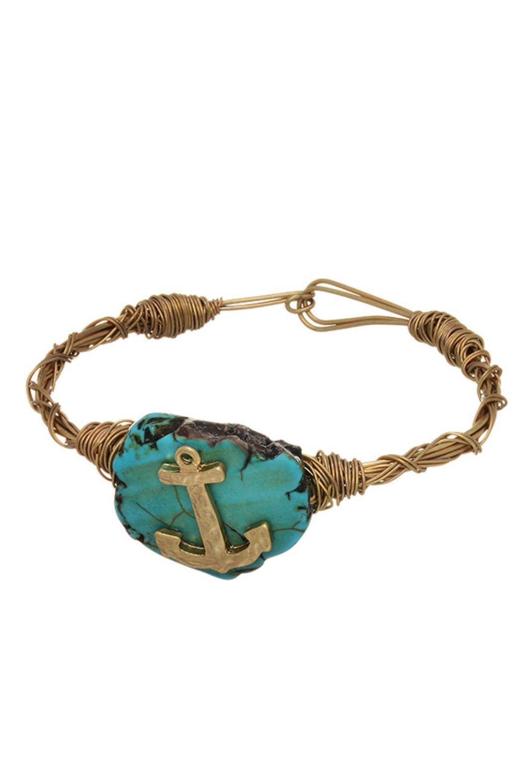 Hand-Twisted Turquoise Anchor