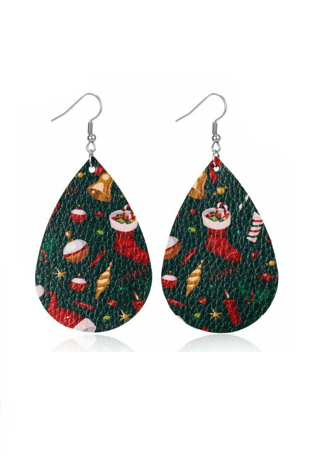 Mimi's Gift Gallery Holiday Earrings !! - Front Cropped Image