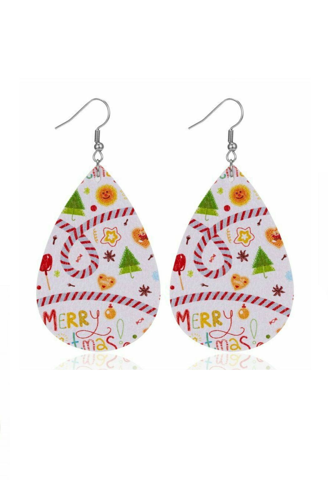 Mimi's Gift Gallery Holiday Earrings !! - Front Full Image
