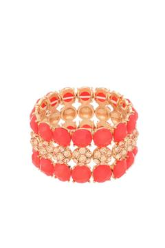 Shoptiques Product: Hot Coral Bracelet