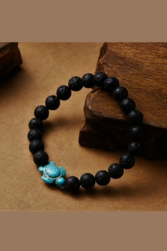 Mimi's Gift Gallery Lava Stones W/turquoise-Turtle - Alternate List Image
