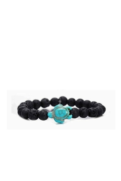 Mimi's Gift Gallery Lava Stones W/turquoise-Turtle - Product List Image