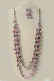 Mimi's Gift Gallery Lilac Beaded Necklace-Set - Product Mini Image
