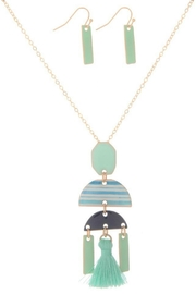 Mimi's Gift Gallery Mint Geometric Necklace-Set - Product Mini Image