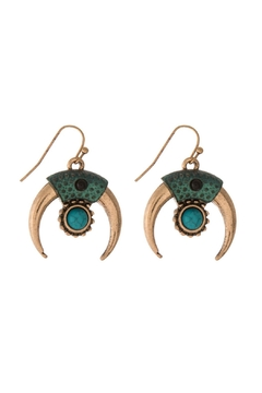 Mimi's Gift Gallery Patina Turquoise Earrings - Alternate List Image