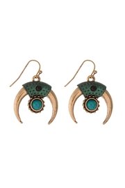 Mimi's Gift Gallery Patina Turquoise Earrings - Product Mini Image