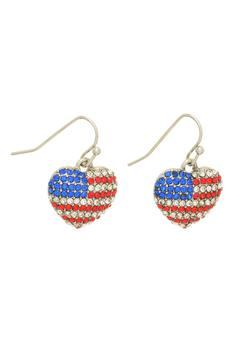 Mimi's Gift Gallery Patriotic Heart Earrings - Alternate List Image