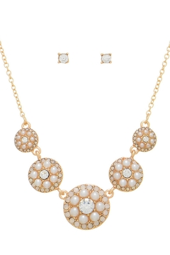 Shoptiques Product: Pearls Rhinestone Necklace-Earrings