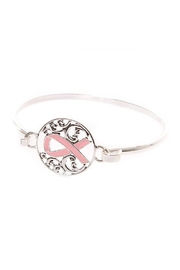 Mimi's Gift Gallery Pink Ribbon Bangle - Front cropped