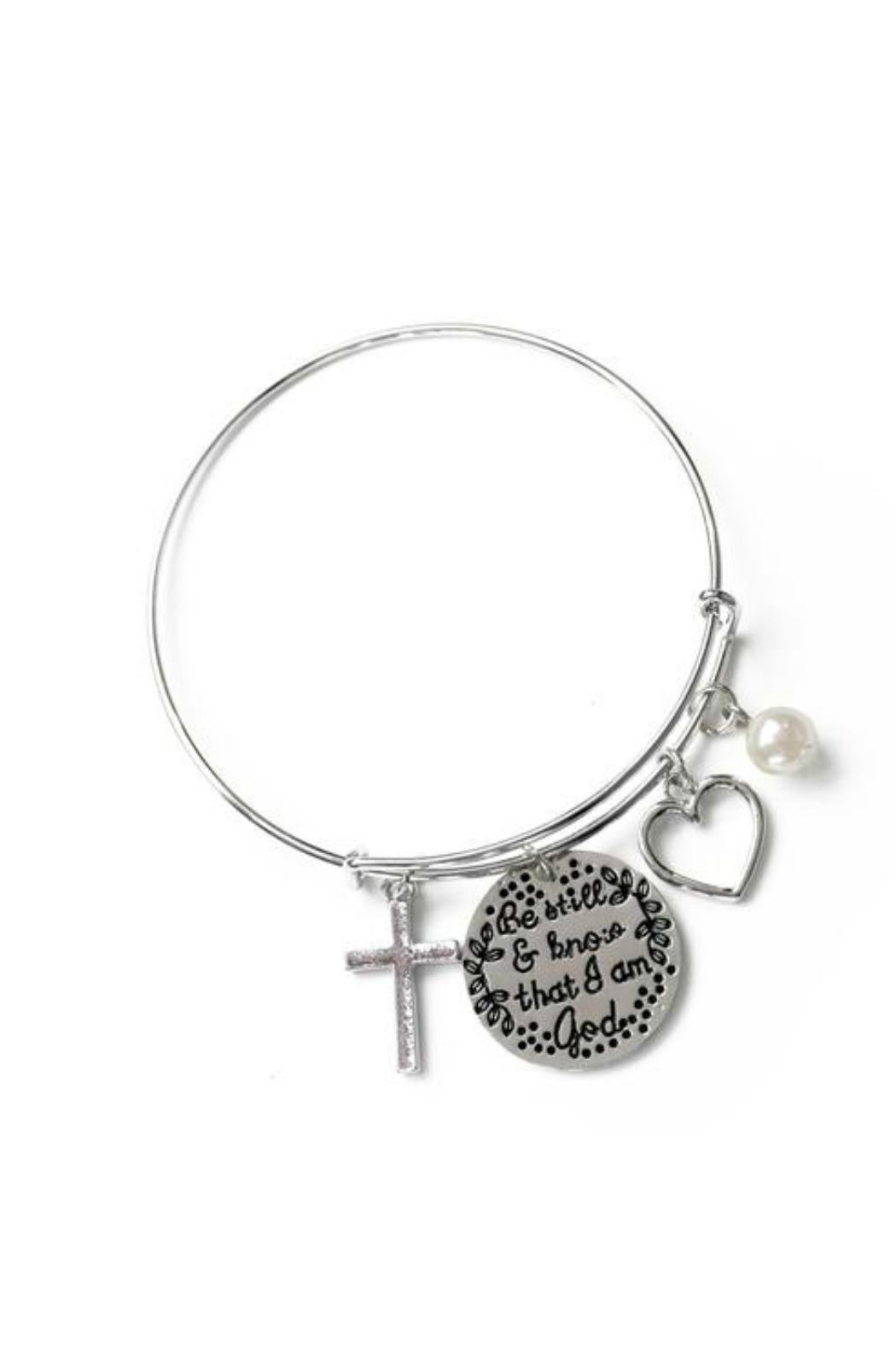 Mimi's Gift Gallery Psalms Stainless Bangle - Front Cropped Image