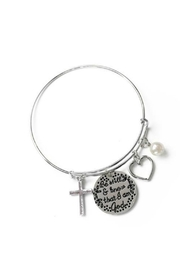 Mimi's Gift Gallery Psalms Stainless Bangle - Front cropped