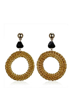 Mimi's Gift Gallery Rattan Black Earrings - Alternate List Image