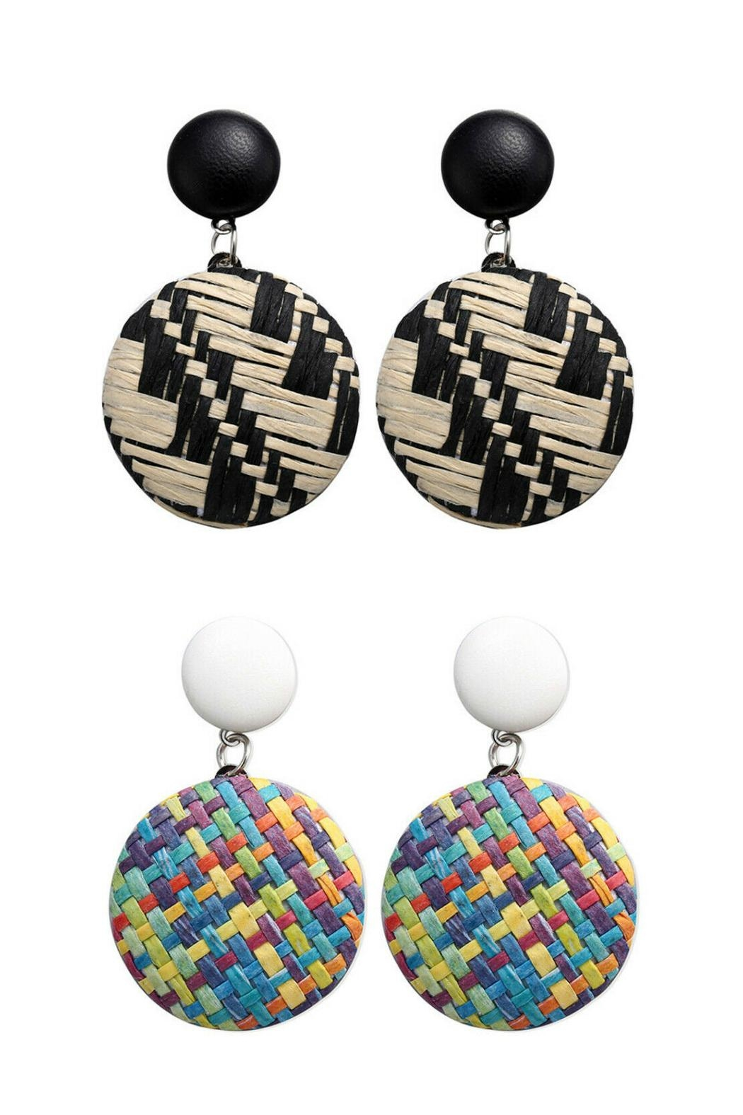 Mimi's Gift Gallery Rattan Multicolor Earrings - Main Image