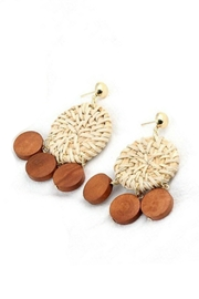 Mimi's Gift Gallery Rattan & Wood Earrings - Front cropped