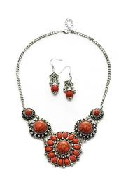 Mimi's Gift Gallery Red/silver Necklace Set - Product Mini Image