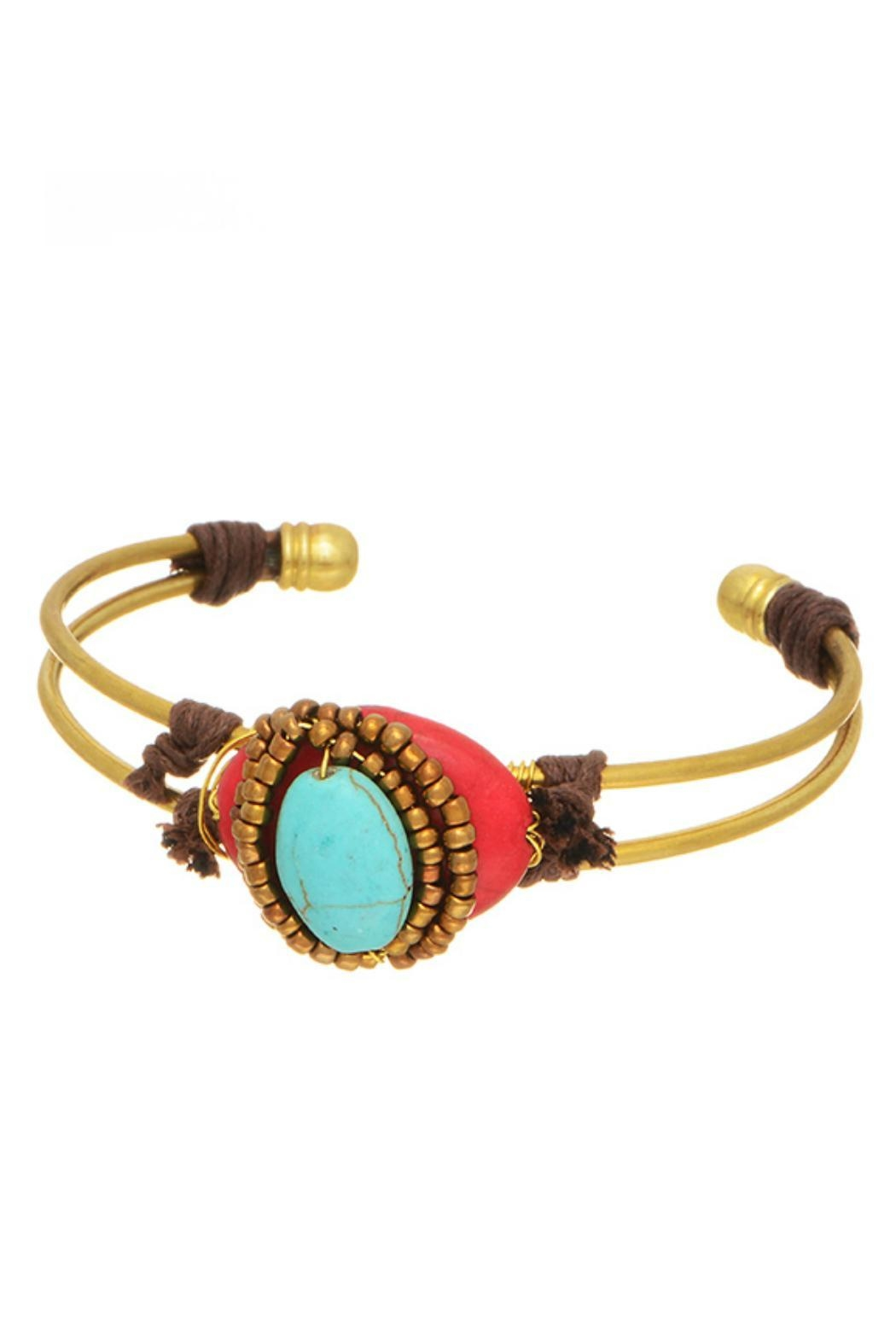 Mimi's Gift Gallery Red Turquoise Brass - Main Image