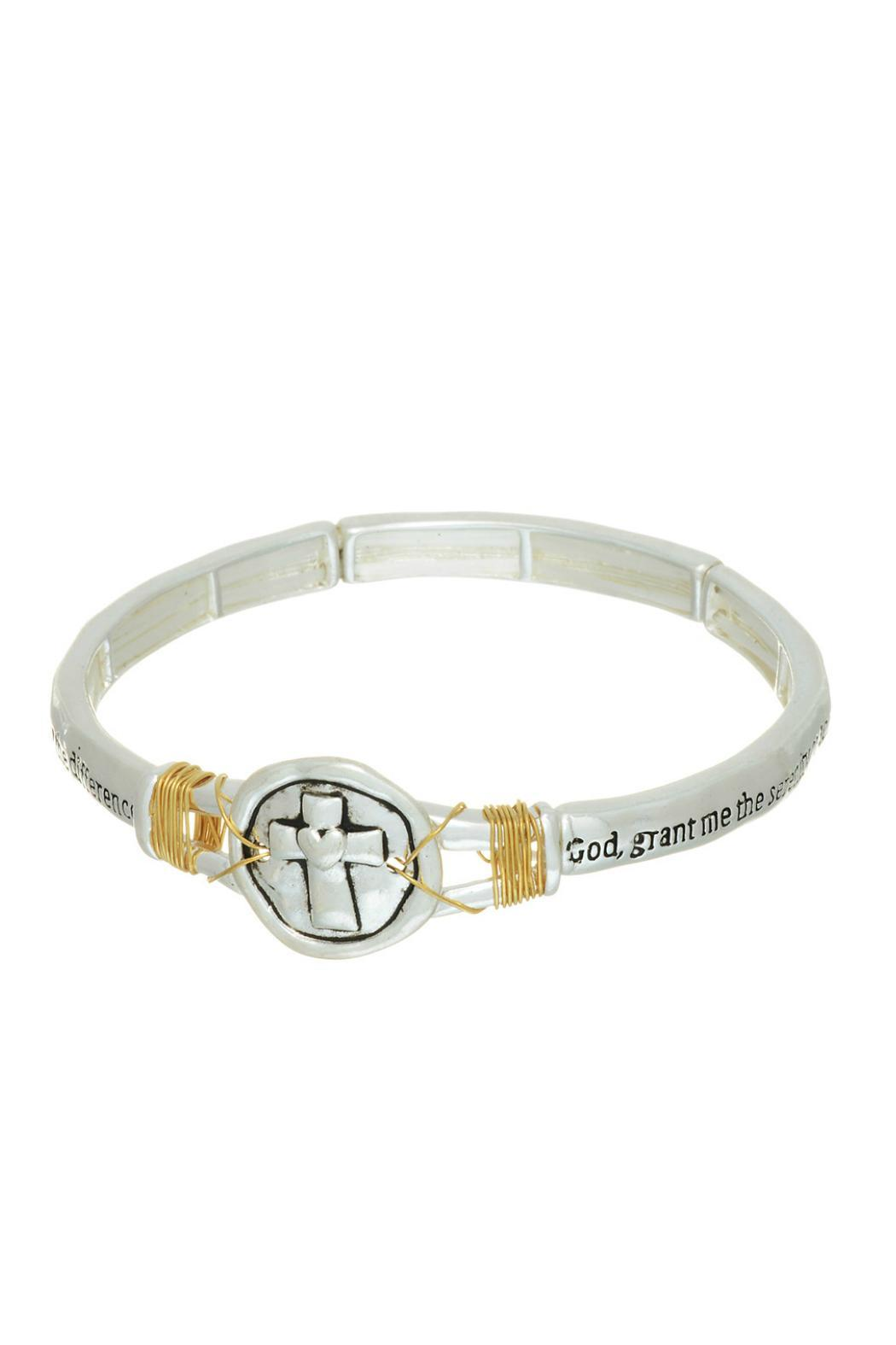Mimi S Gift Gallery Serenity Prayer Bracelet Front Cropped Image
