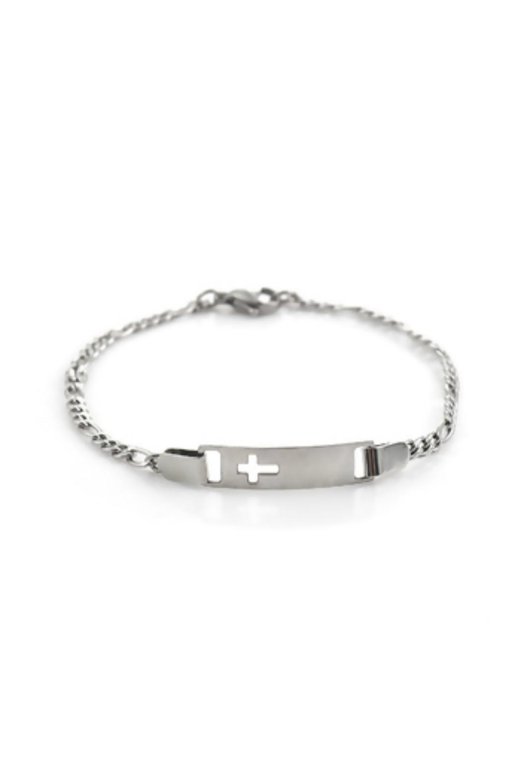 Mimi's Gift Gallery Stainless Steel Cross - Front Cropped Image