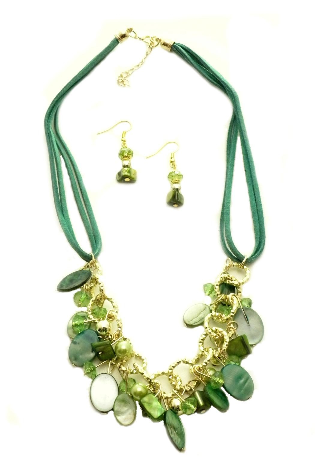 Mimi's Gift Gallery Teal/green Necklace Set - Main Image
