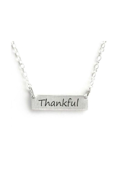Mimi's Gift Gallery Thankful Bar Necklace - Product List Image