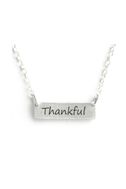 Mimi's Gift Gallery Thankful Bar Necklace - Front cropped