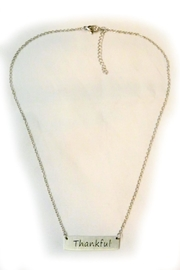 Mimi's Gift Gallery Thankful Bar Necklace - Front full body
