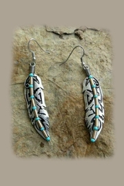 Mimi's Gift Gallery Tribal Turquoise Earrings - Product Mini Image