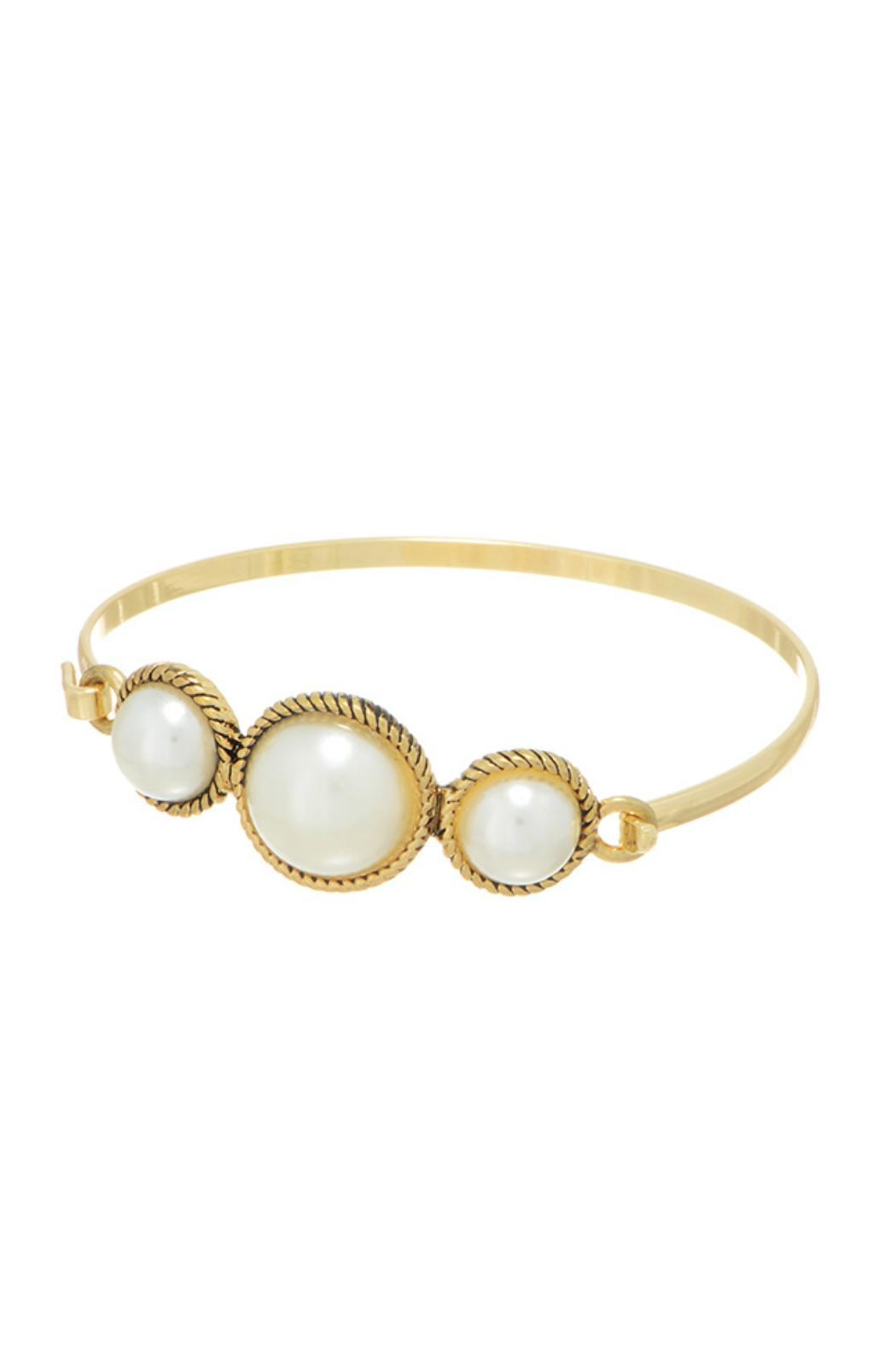 Mimi's Gift Gallery Triple Pearl Bangle - Main Image