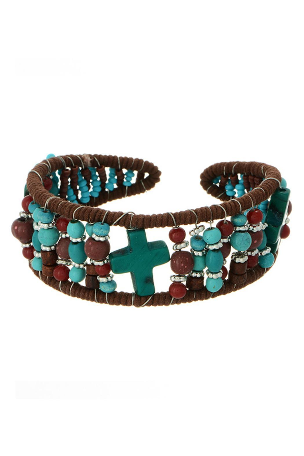 Mimi's Gift Gallery Turquoise Brown Bracelet - Main Image